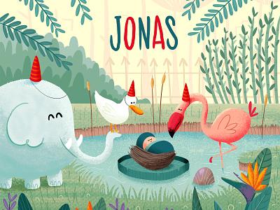 Jonas zoo baby flamingo elephant
