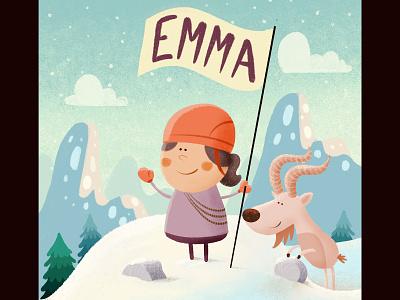 Emma mountaineer procreate snow goat mountain
