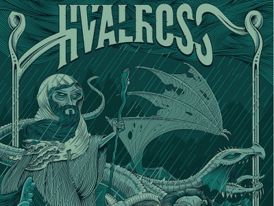 Hvalross - Cold Dark Rain album artwork rain lion dragon geyron album art