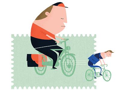 Postal service bicycle post sandd postal