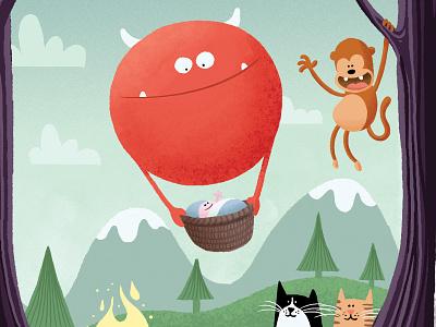birth announcement: Aiden balloon monster birth announcement birth card baby babycard