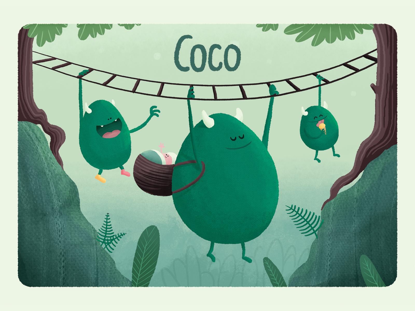 Coco dribbble