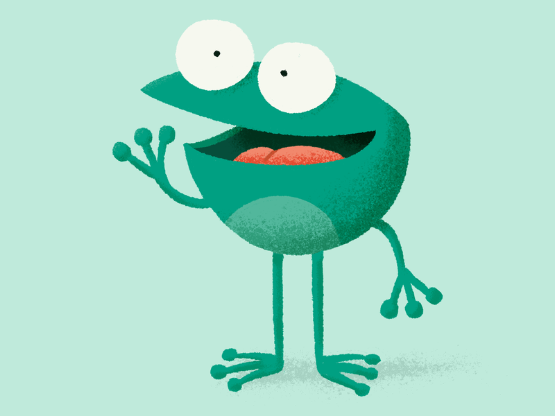 Frog flat illustration frog