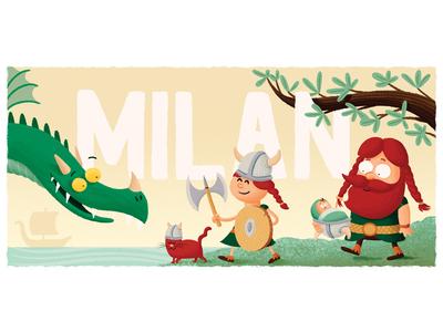 Milan birth card