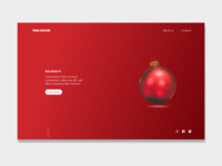 Tree decor selling company UX/UI concept
