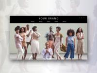 Online fashion shop UX/UI design concept