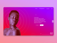 Photographers' portfolio website concept