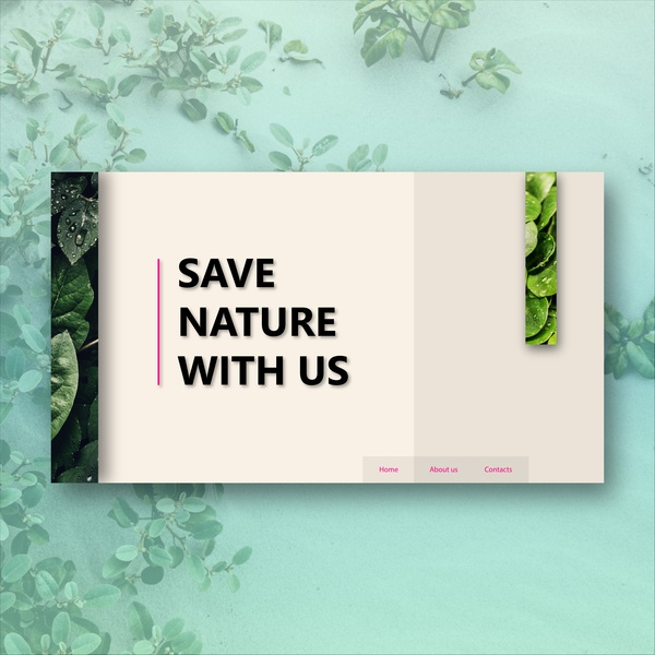 Save Nature website concept typography nature app web deisgn minimal website web design ui ux