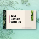 Save Nature website concept