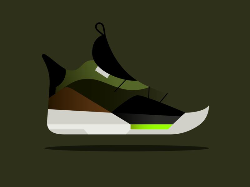53a383acac3 Travis Scott x Air Jordan 33 NRG fashion jumpman shoe air jordan jordan  travis scott illustration