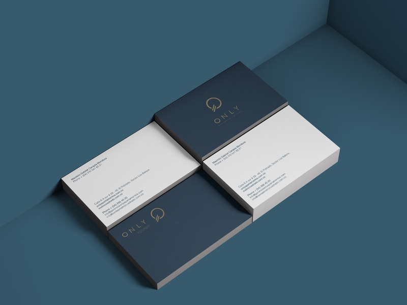 Corporate brand identity Only apartments and offices logo corporate brand identity typography design packaging branding
