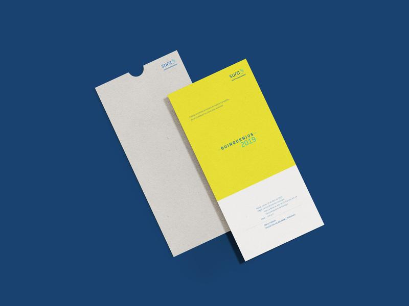 Invitation card Sura Asset Management packaging design packagedesign brand identity design vector typography logo packaging branding
