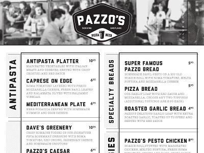 Pazzo's Look/Feel Test 3 typography robert gaszak menu