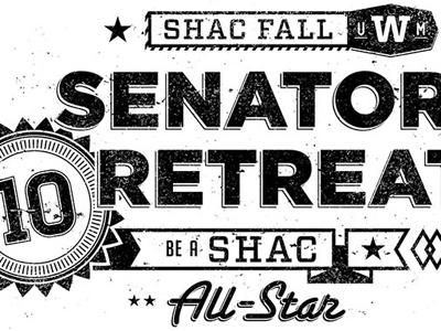 Senator Retreat T-Shirt t-shirt worn one-color typography design illustrator photoshop robert gaszak