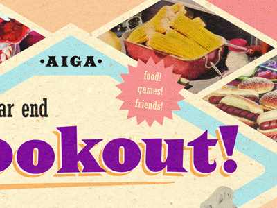 AIGA Cookout design illustrator photoshop poster retro robert gaszak aiga halftone