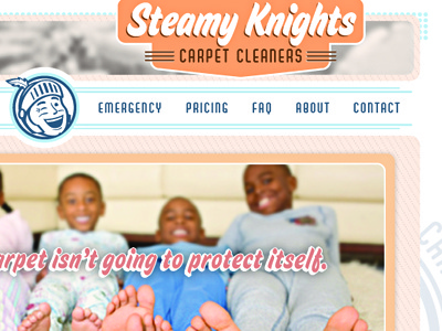 Steamy Knights Site illustrator retro robert gaszak site design website