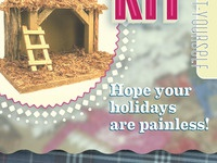 Home Birthing Kit Christmas Card