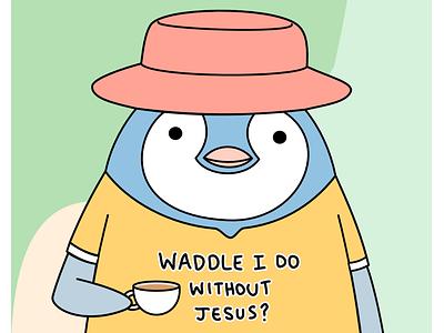 Penguin. penguin illustration design graphic design christian illustration christian art cartoon