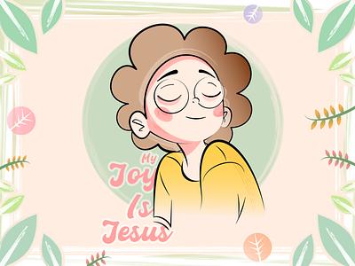 Joy joy illustration graphic design design christian illustration christian cartoon art