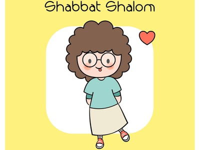 Shabbat Shalom christian illustration christian illustration graphic design design cartoon art