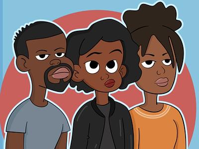 Thomas, Joyce, & Rose character design character illustration illustration graphic design design cartoon art