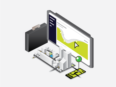 Ola Corporate- Cabs for Businesses google map isometric web ui app corporate business dashboard building ola ocd