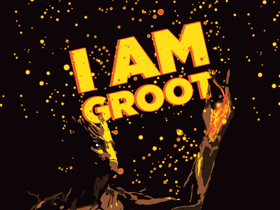 GOTG#2 Groot vector art pop movie marvel illustration guardians dc avengers tree groot