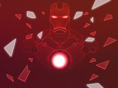 Ironman movie comic icon line vector poly neon avengers marvel ironman man iron