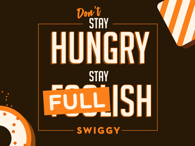 Core Beliefs at Swiggy merchandise values branding typography sticker pun design illustration vector