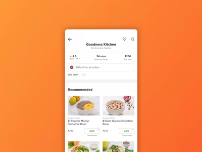 Ratings - Consume illustration animation tap touch star rate review menu food packaging taste happy emoji color delight fun motion ui ux rating