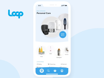 Loop Mobile App Concept loop interaction design mobile app development sustainability user experience prototype principle mobile app animation app ui