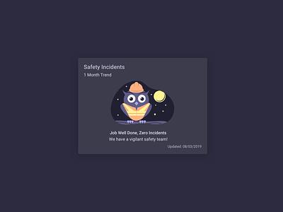 Safety Owl - Vector Illustration vector illustration vector owl illustration owl logo sketch owl marketing safety team branding character design character saas website illustration