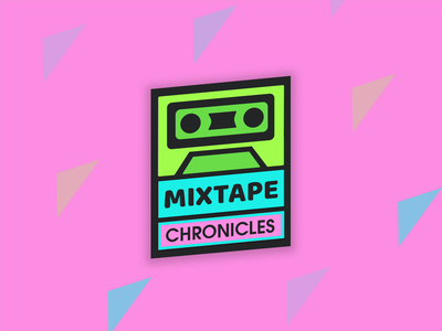 Mixtape Chronicles - Logo Design retro throwback stylized iconic logo icon iconic logo design logo