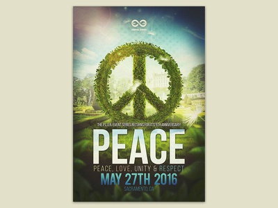 Peace - Concert Event Poster 2016 design concert poster gamma designs eternal events graphic design peace poster event plur