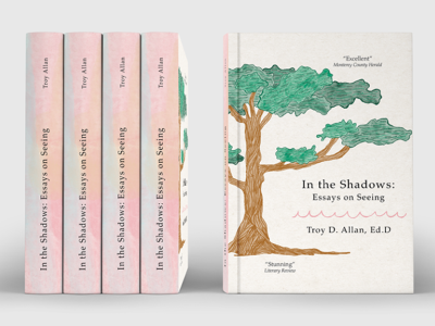 In the Shadows: Essays on seeing illustration book cover mockup book cover design book cover art bookcovers bookcover book