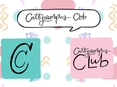 Cattywampus Club logos branding agency brand identity brand design branding design illustrated logo logo design logotype logos branding logo design illustrations illustration art illustration