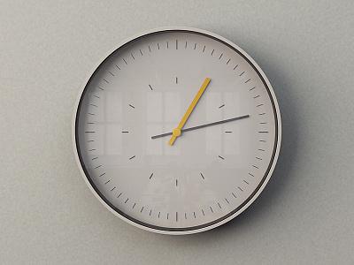 Tick c4d clock dieter rams 3d