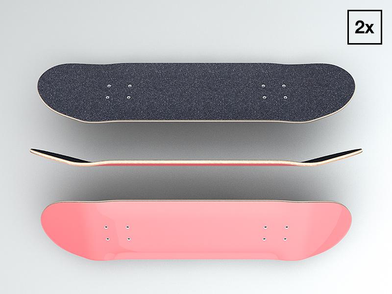 Skateboard deck skateboard skating griptape 3d c4d