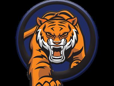 Hubli Tigers team logo logotype tiger logo design kpl logo app jiga icon graphic design concept duggout cricket logo cricket app cricket creative