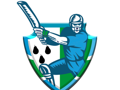 Worcestershire team logo illustration app design concept icon jiga logo graphic design creative duggout cricket logo cricket app cricket