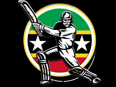 St Kitts & Nevis Patriots team logo illustration app design concept icon jiga logo graphic design creative duggout cricket logo cricket app cricket