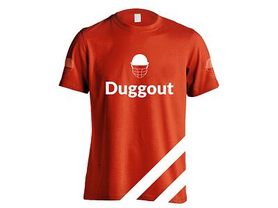 Frontside Duggout t-Shirt Design illustration app concept icon jiga logo graphic design creative duggout cricket logo cricket app cricket design