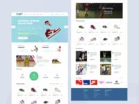 "Dribbble Debut shot: Kids e-commerce website ""Junior shoes""  UI"