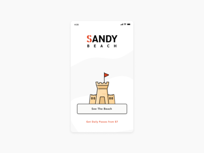 First Launch Screen Sandy Beach