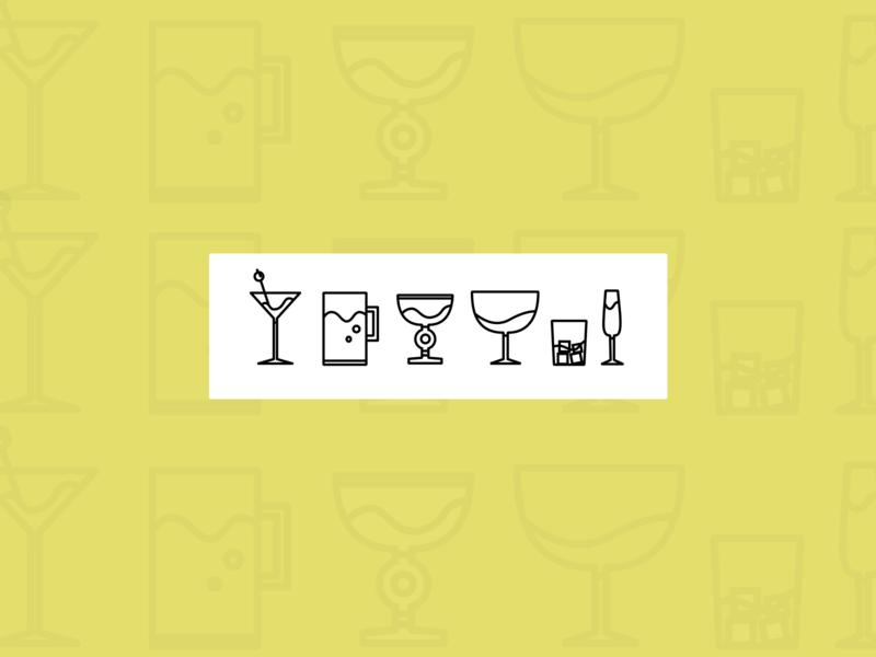 Stroke Icons - Glasses ocean overlay layout stroke icons illustration