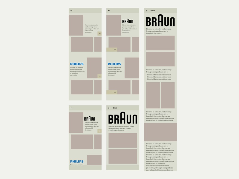 Basic Grid Explorations branding vector contrast design ui android grid design app design grid layout grid