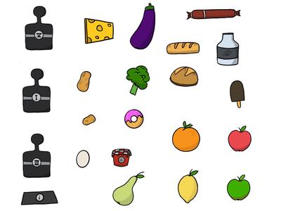 Game assets, food section draws blessings veggies fruits independent games hame hi assets illustrations ux design hi game