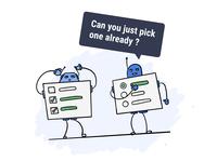 Little UX Joke design fun uxdesign chatbot robot checkbox uxui ux funny joke
