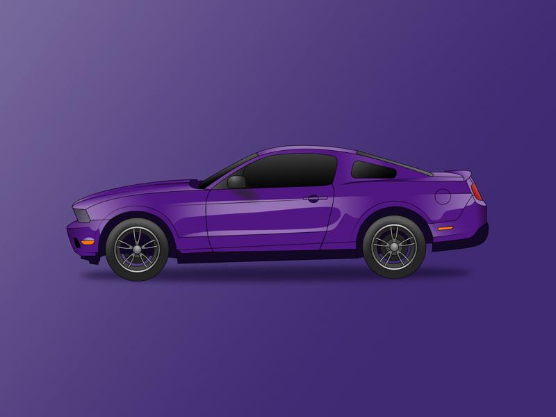 Mustang vector graphic vectorart car mustang