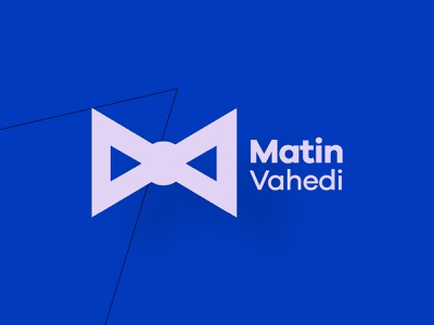 Matin Vahedi   Fashion Designer tie logo modern logo mode logo fashion designer logo fashion logo mva mv mv monogram mv logo farsi logo design persian logo logo persian iranian iran